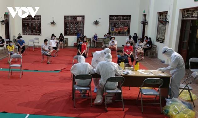 Huyện Thuận Thành (Bắc Ninh) tăng cường lấy mẫu F2 và bố trí các chốt trực 24/24h