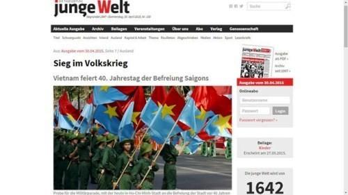 外国のマスメディア、4月30日の勝利をたたえる