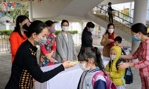 各学校での疫病予防対策