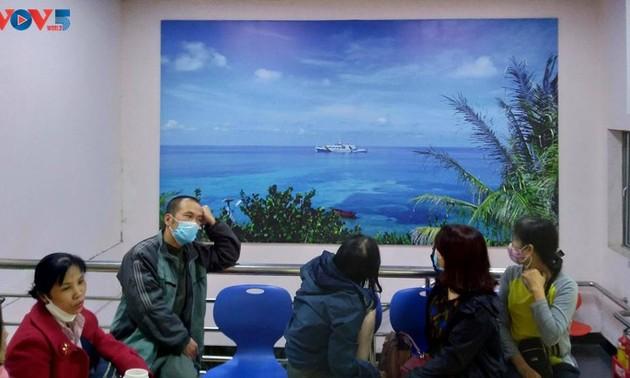 「チュオンサ諸島」を病院内で紹介