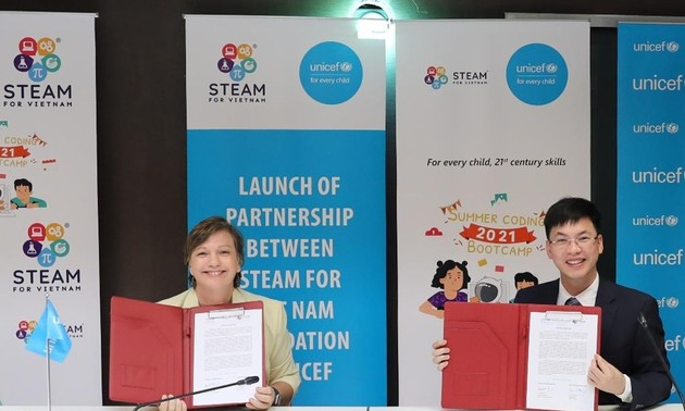 联合国儿童基金会启动提高越南儿童的数字化知识和技能计划