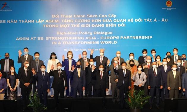 在不断变化的世界中进一步加强亚欧伙伴关系