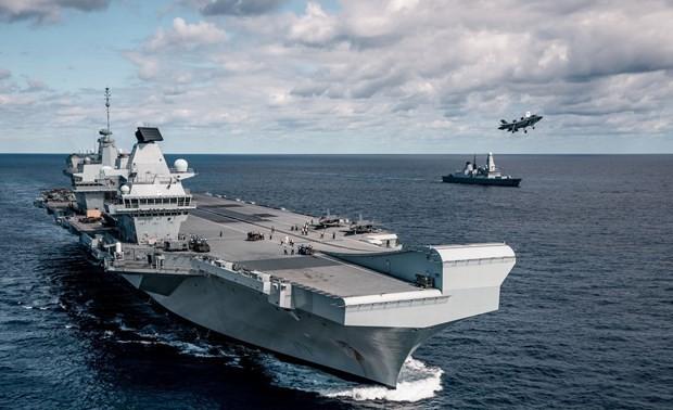 英印两国海军举行联合军演
