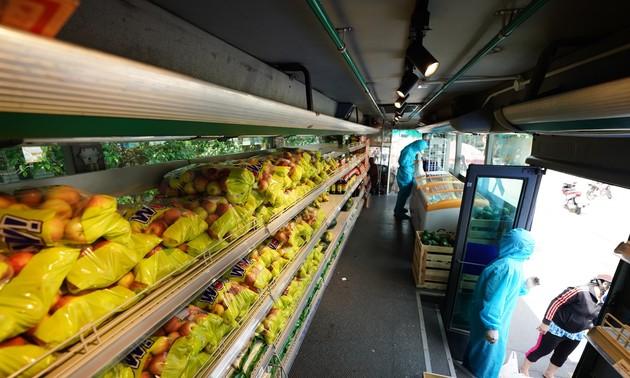 巴士超市帮助居民度过疫情时期