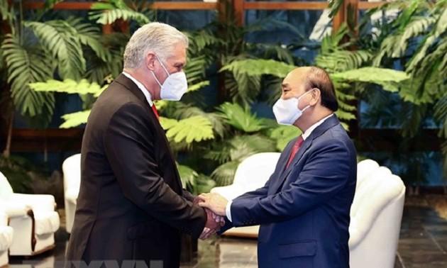 古巴媒体纷纷报道越南国家主席阮春福对古巴进行的国事访问