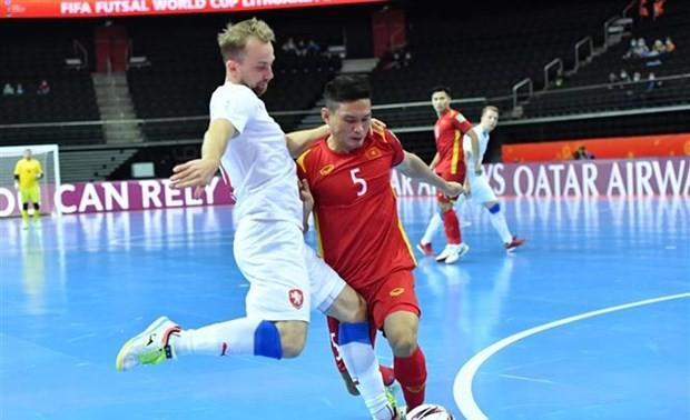 捷克媒体称赞越南室内五人制足球队的顽强