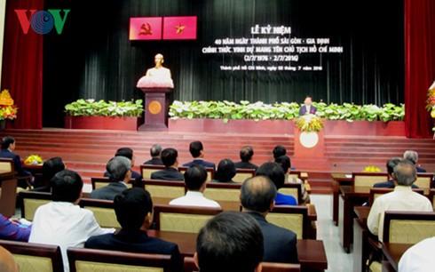 Presiden Tran Dai Quang: Mengembangkan tradisi, proaktif dan kreatif membangun kota Ho Chi Minh berkembang