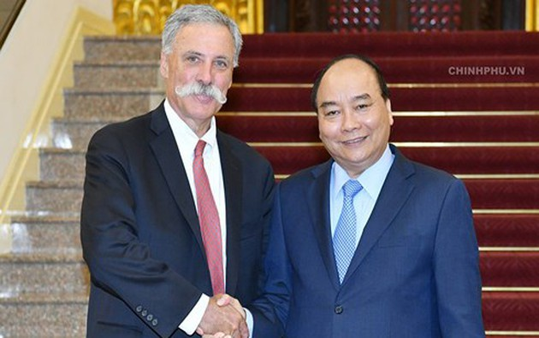 Le PM reçoit le président du groupe Formula One