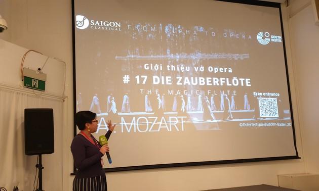 """Vorführung der Oper """"Die Zauberflöte"""" im Goethe Institut Hanoi"""