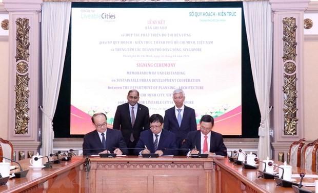 Zusammenarbeit zwischen Ho Chi Minh Stadt und Singapur bei der Stadtplanung