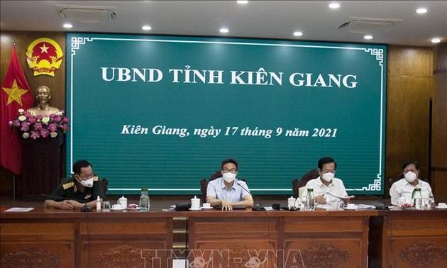 Vizepremierminister Dam fordert Provinz Kien Giang zur rasanten Rückkehr zur neuen Normalität auf