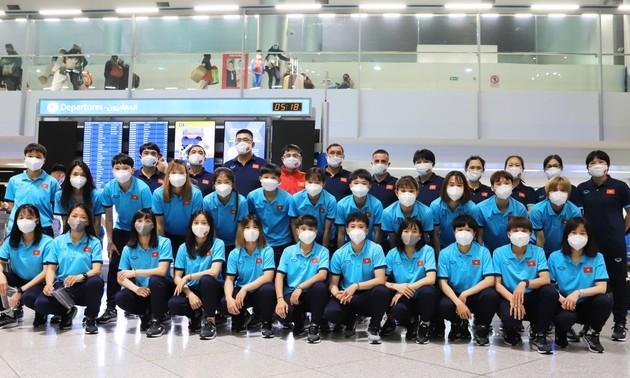 Die vietnamesische Fußballnationalmannschaft der Frauen nimmt an Qualifikationsrunde von Asian Cup 2022 teil