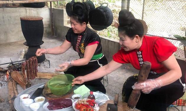 Gerichte aus Wasserbüffelfleisch der Volksgruppe der Thai im Nordwesten