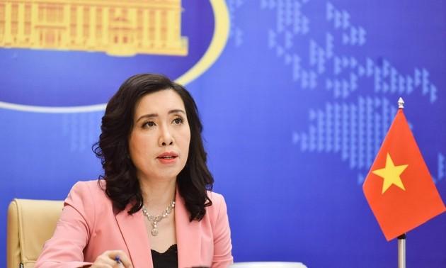 Vietnam fordert von betreffenden Seiten den Respekt der Souveränität Vietnams