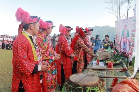 Ritual memuja Ban Vuong dari warga etnis minoritas Dao di Kabupaten Ba Che, Provinsi Quang Ninh, Vietnam Utara