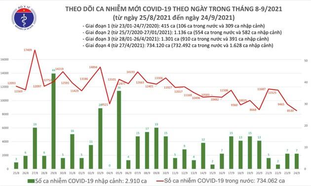Situasi Wabah Covid-19 di Vietnam per 24 September