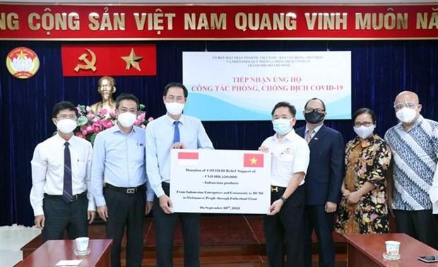 Badan Usaha dan Komunitas Orang Asing di Kota Ho Chi Minh Dukung Pekerjaan Pencegahan dan Pengendalian Covid-19