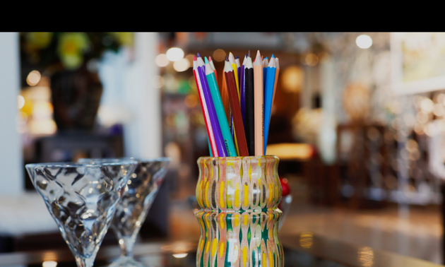 Colored pencils: Not just for drawing!