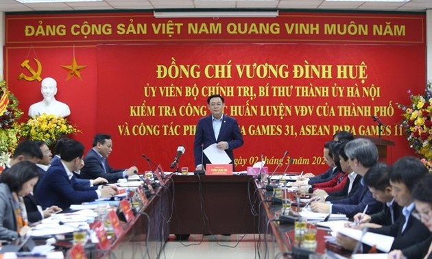 Hanoi leader inspects works for SEA Games 31, ASEAN Para Games 11