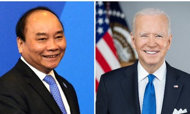 Джо Байден поблагодарил Нгуен Суан Фука за участие в саммите по климату
