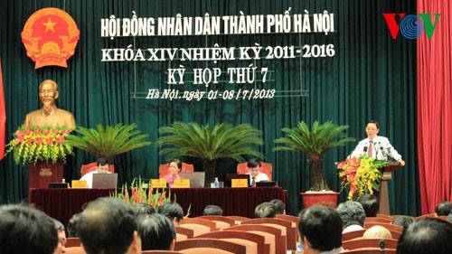 Bế mạc kỳ họp Hội đồng Nhân dân thành phố Hà Nội
