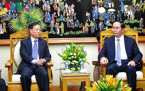 Bộ trưởng Bộ Công an Trần Đại Quang tiếp đoàn đại biểu Bộ Công an Trung Quốc