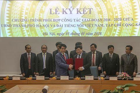 Tăng cường phối hợp công tác giữa TP Hà Nội với Đài Tiếng nói VN và Tạp chí Cộng sản