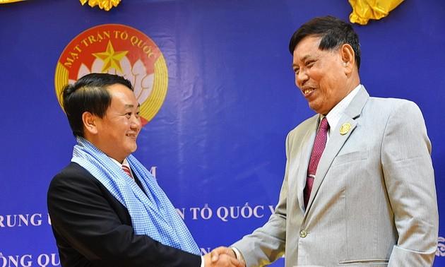 Mặt trận Tổ quốc Việt Nam và Mặt trận Đoàn kết Campuchia tăng cường hợp tác
