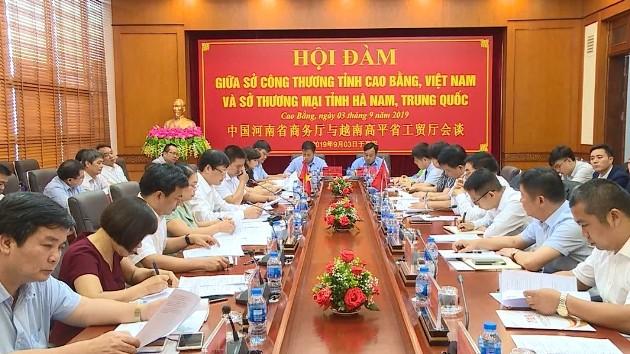Cao Bằng và tỉnh Hà Nam (Trung Quốc) thúc đẩy hợp tác thương mại