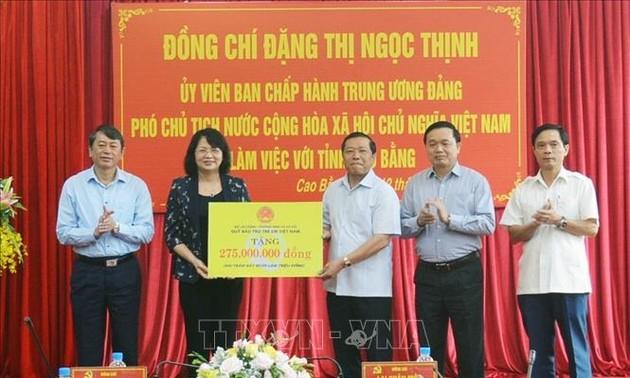 Phó Chủ tịch nước Đặng Thị Ngọc Thịnh thăm và làm việc tại Cao Bằng