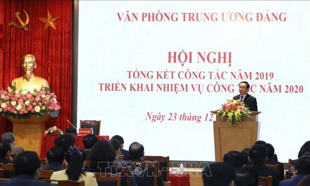 Văn phòng Trung ương Đảng triển khai nhiệm vụ năm 2020