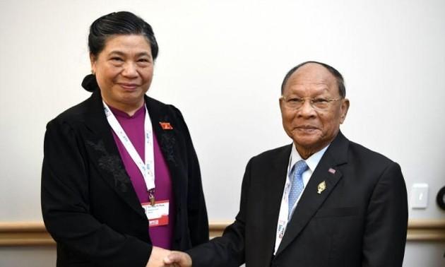 Phó Chủ tịch Quốc hội Tòng Thị Phóng tiếp xúc song phương bên lề Hội nghị APPF 28