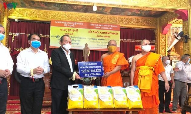 Phó Thủ tướng Trương Hoà Bình chúc tết đồng bào Khmer Nam bộ tại chùa Cadaransi