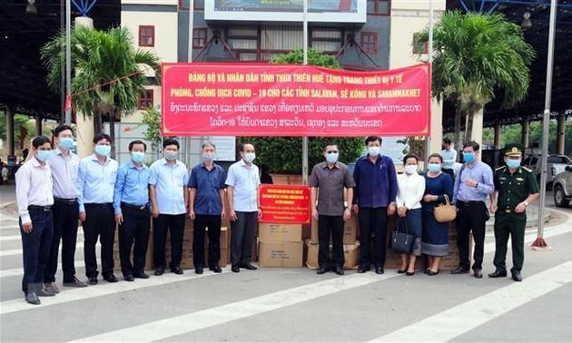 Thừa Thiên-Huế hỗ trợ vật tư, trang thiết bị y tế cho tỉnh Savannakhet, Lào