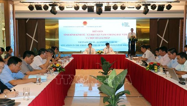 Diễn đàn tình hình kinh tế - xã hội Việt Nam 9 tháng năm 2020 và một số giải pháp