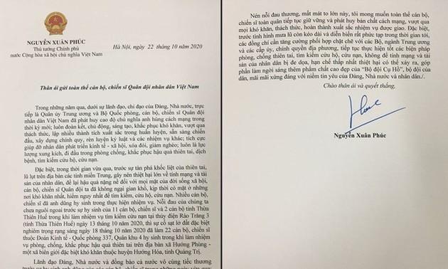Thủ tướng Nguyễn Xuân Phúc mong muốn toàn quân vượt khó khăn, tiếp tục hoàn thành xuất sắc nhiệm vụ