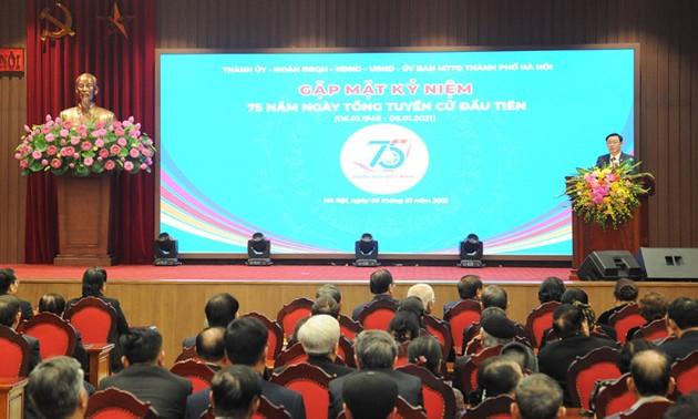 Hà Nội gặp mặt các thế hệ đại biểu Quốc hội nhân kỷ niệm 75 năm Ngày Tổng tuyển cử đầu tiên