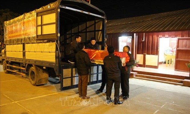 Hồi hương hài cốt liệt sĩ quân tình nguyện, chuyên gia Việt Nam hy sinh tại Lào