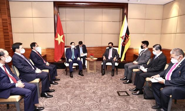 Thủ tướng Phạm Minh Chính hội kiến Quốc Vương Brunei Haji Hassanal Bolkiah