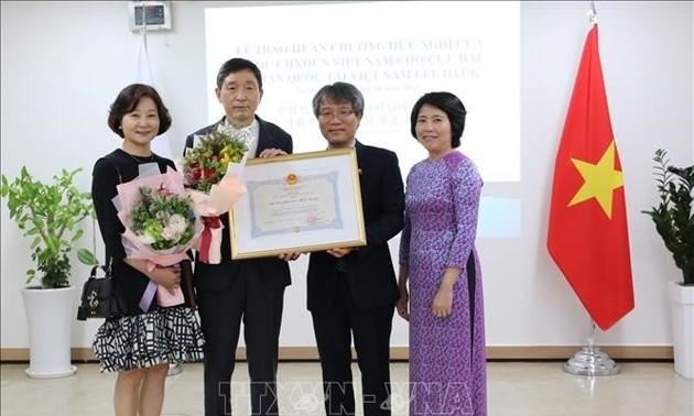 Trao tặng Huân chương Hữu nghị cho cựu Đại sứ Hàn Quốc tại Việt Nam Lee Huyk