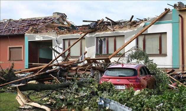 Đại sứ quán Việt Nam tại Czech và Hội người Việt thăm hỏi, cứu trợ bà con bị ảnh hưởng của lốc xoáy