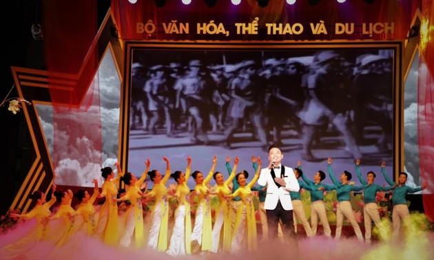 """Chương trình nghệ thuật """"Những mùa thu lịch sử"""" kỷ niệm Cách mạng tháng Tám, Quốc khánh 2/9"""
