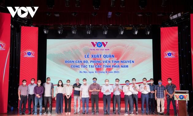 Đoàn cán bộ, phóng viên VOV xuất quân vào tâm dịch phía Nam công tác