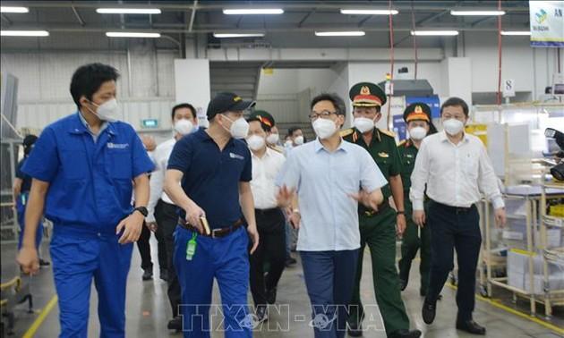 Phó Thủ tướng Vũ Đức Đam kiểm tra hoạt động sản xuất kinh doanh tại thành phố Thủ Đức, Thành phố Hồ Chí Minh