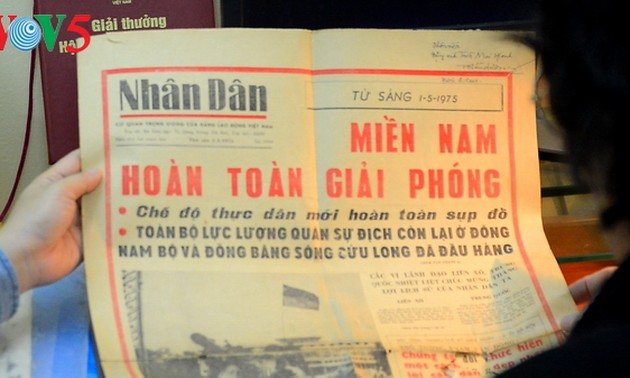 First on-the-spot report on historical victory on April 30, 1975