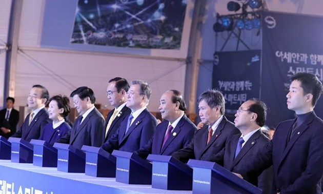 PM attends ground-breaking ceremony of smart city in Busan