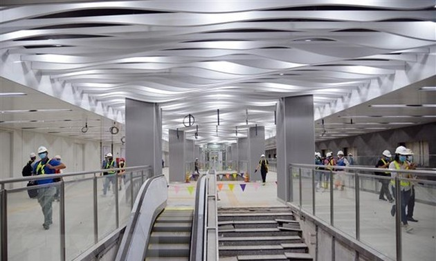 Ba Son underground station's first floor of metro line 1 in Ho Chi Minh city inaugurated