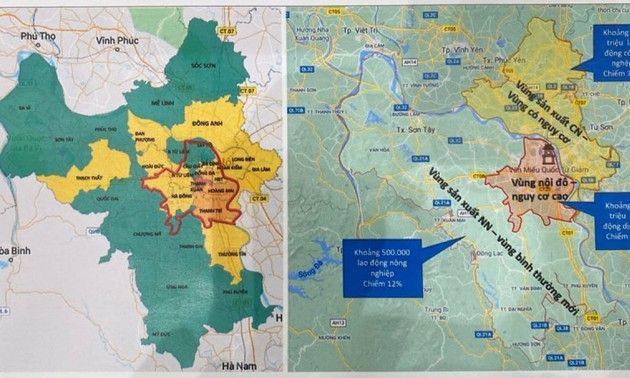 Hanoi to be divided into three zones for social distancing classification