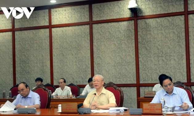 Party leader chairs Politburo meeting on implementation of socio-economic development plans