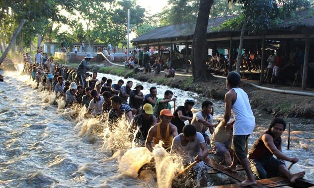 高棉族同胞与2020年赛龙舟